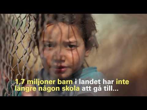 Svårt år för barnen i Syrien