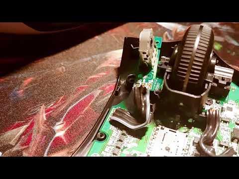 Logitech G703 Semi-Teardown showing scroll wheel problem