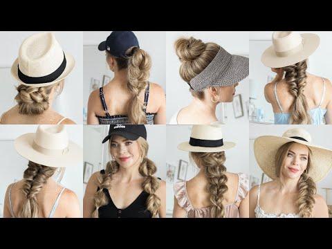 7 EASY HAT HAIRSTYLES | Missy Sue