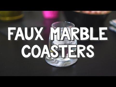 Faux Marble Coasters - DIY$ by Perk