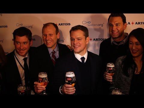 Matt Damon on water.org Stella Artois partnership