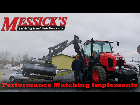 Kubota M6-111 with TerrainKing Boom Mower - How it Works Picture