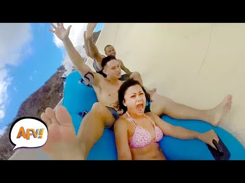 Slip & Slide & FAIL! Water Fails Funny | AFV 2019