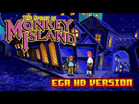 Monkey Island  - (16 Colors EGA High Resolution Version) - Gameplay