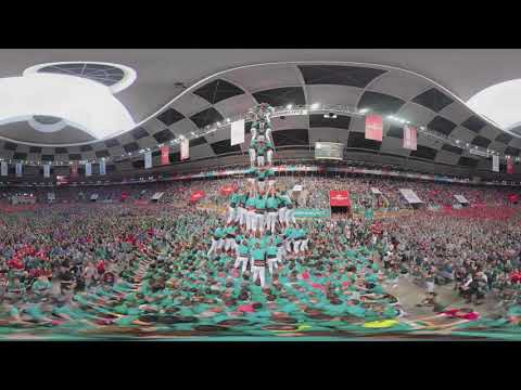 Outstanding Human Towers Castellers Competition in Catalonia