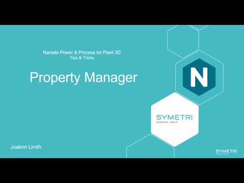 Plant 3D Naviate Property Manager (eng)