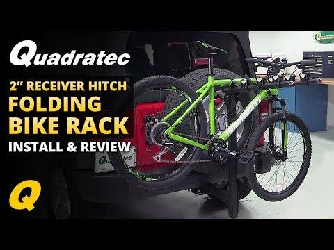 Quadratec 2 & 4 Bike Folding Bike Rack Review for Jeep Wrangler
