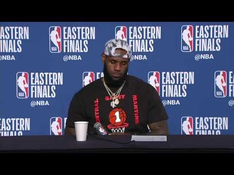 LeBron James Postgame Interview   Celtics vs Cavaliers Game 6