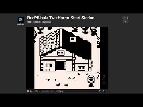 Red//Black: Two Horror Short Stories on Pico-8