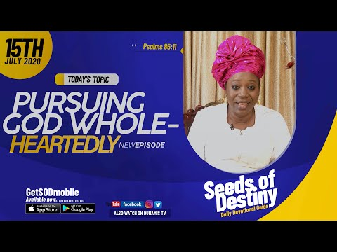 Dr Becky Paul-Enenche - SEEDS OF DESTINY - WEDNESDAY JULY 15, 2020