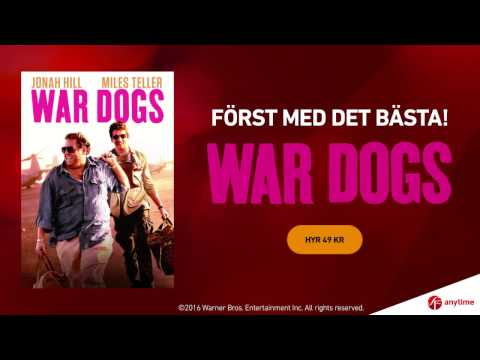WAR DOGS - hyrpremiär hos SF Anytime 12 december