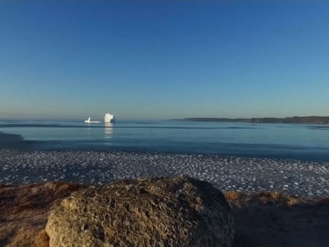 Raw: Iceberg Drifts Along Canada's East Coast