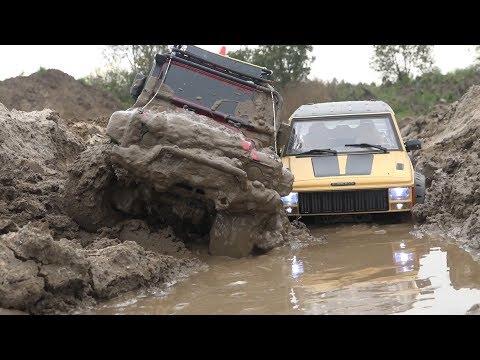 Тащим Jeep Cherokee, а затем Land Rover Defender ... Cars in the MUD, winch - UCX2-frpuBe3e99K7lDQxT7Q