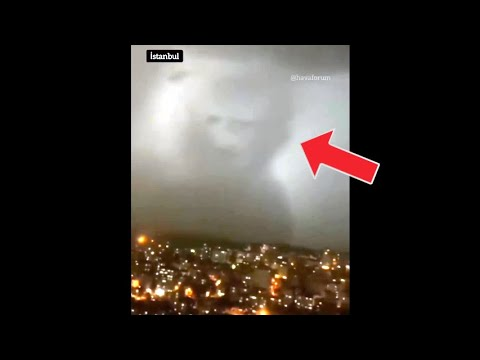 OMG! A bear-shaped silhouette appeared in the skies of Turkey