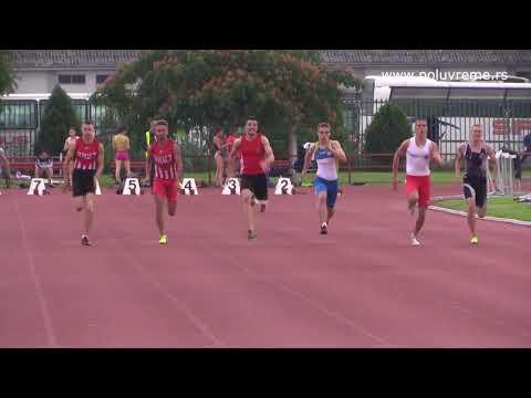 Finale prvenstva Srbije, stariji juniori 100m