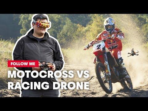 FPV Racing Drone Films A Motocross Racer Shredding A Sand Track   Follow Me - UC0mJA1lqKjB4Qaaa2PNf0zg