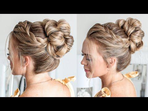 Lace Braid High Bun | Missy Sue
