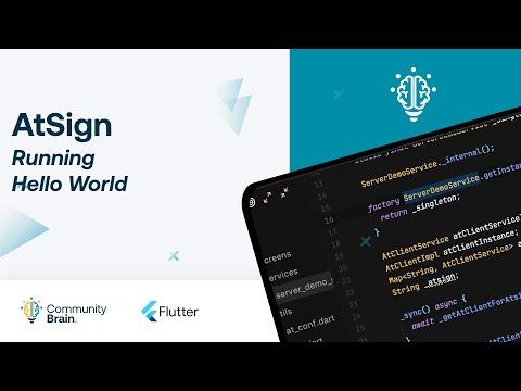 Ejecutando Hello World con AtSign
