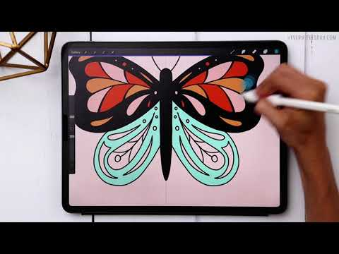 Create a Colorful Butterfly in Procreate