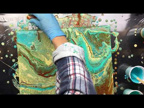 ( 689 ) Acrylic pouring many colours