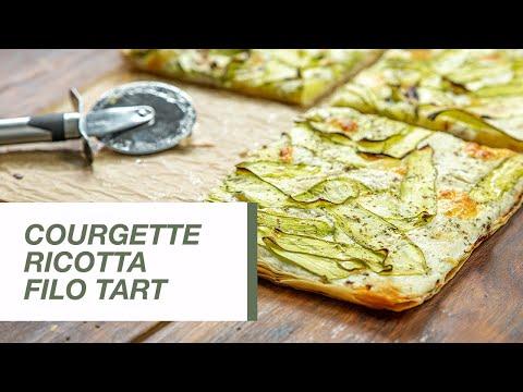 Courgette Ricotta Filo Tart   Food Channel L Recipes