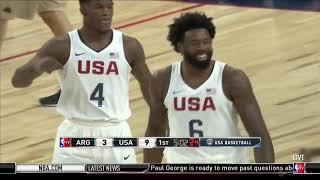 USA vs Argentina Full Game 2016 Olympic Basketball
