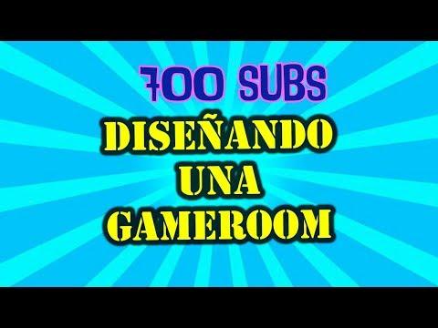 700 SUSCRIPTORES DISEÑANDO UNA GAME ROOM