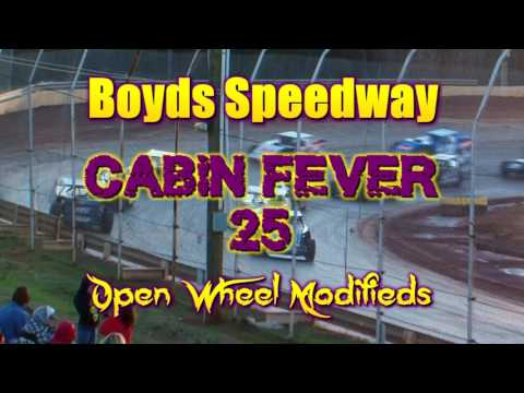 Boyds Speedway  Cabin Fever  Open Wheel Modified  Jan 28 , 2017 - dirt track racing video image
