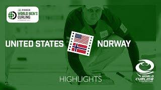 HIGHLIGHTS: United States v Norway - Pioneer Hi-Bred World Men's Curling Championship 2019