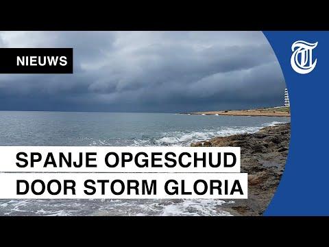 Stroomuitval en veel schade aan Spaanse kust