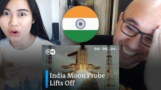 Indonesians React To India moon probe Chandrayaan 2 launches into space | DW News