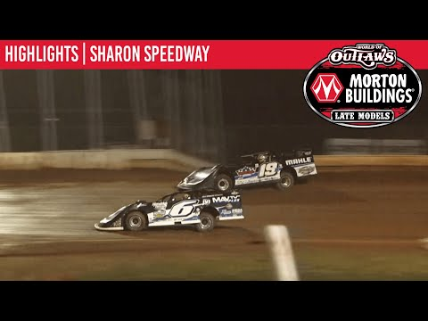 World of Outlaws Morton Building Late Models at Sharon Speedway August 21, 2021   HIGHLIGHTS - dirt track racing video image