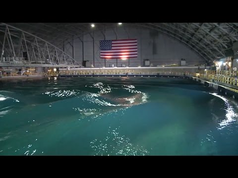 This 'indoor ocean' can simulate the world's worst wave conditions
