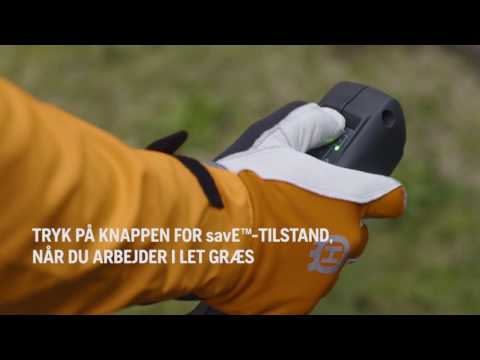 savE™–Tilstand på batteridrevet trimmer