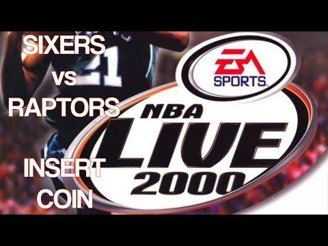 NBA Live 2000 (1999) - PlayStation - Sixers vs Raptors