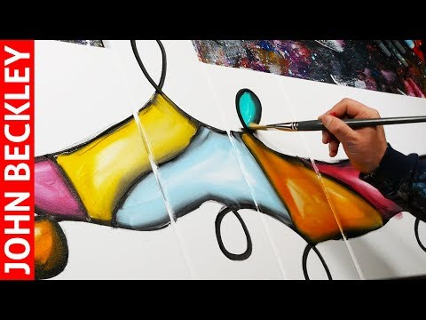 Abstract Painting in Acrylics | SpeedArt Demonstration | Loop