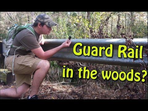 Guard Rail Geocache in the Woods??