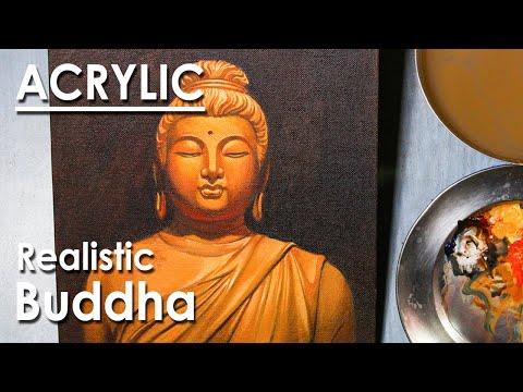 Acrylic Painting : Lord Buddha