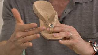 Vionic Thong Sandals w/ Button - Mona on QVC