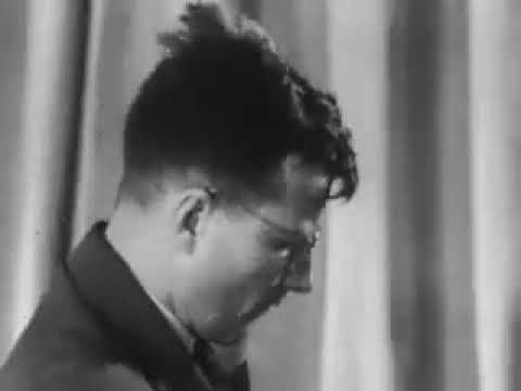 Dmitry Shostakovich plays excerpt from his 7th symphony