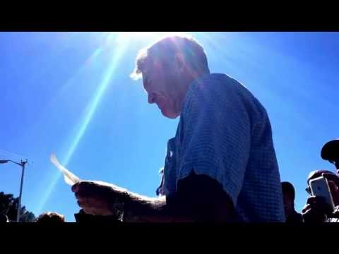 Brad Clement reads his own message from the late 60's.