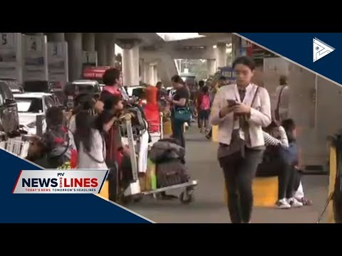 Air travellers flock to NAIA