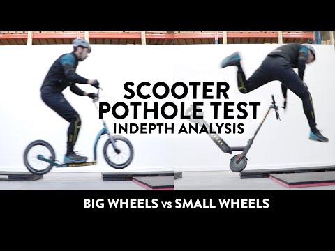 Scooter Pothole Test - Big Wheels vs Small Wheels