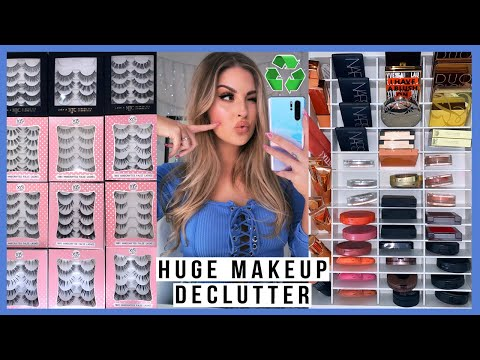 ? HUGE DECLUTTER & ORGANISATION - blush & false lashes! ?