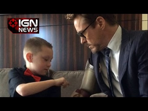 Robert Downey Jr. Gives Child an Iron Man Prosthetic Limb - IGN News - ignentertainment