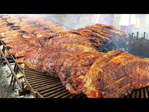 Biggest Rib Grill in Europe. Huge ! Seen on the Road in Italy. World Street Food - UCdNO3SSyxVGqW-xKmIVv9pQ