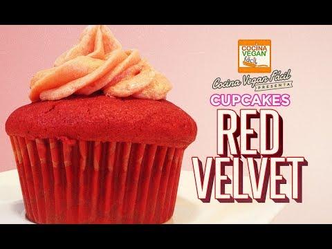 Cupcakes red velvet - Cocina Vegan Fácil
