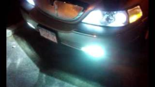 Lincoln Town Car Custom Grille W High Beam Socket Mod To Run As Low