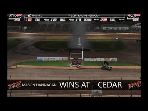 DSRL Monday Night Thunder Season 15 Rd 2 @ Cedar Lake - dirt track racing video image