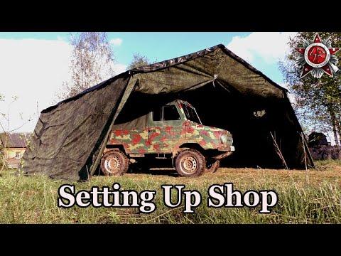 Workshop In 30 Man Army Tent - PF Bereg 30M1